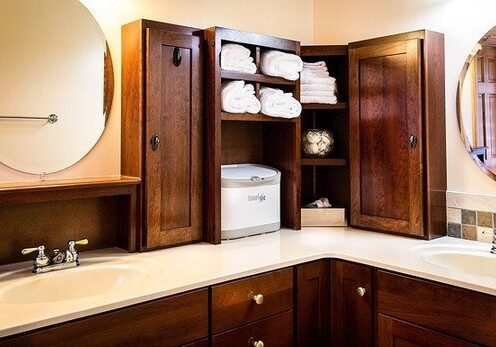 refinished and stained cabinets